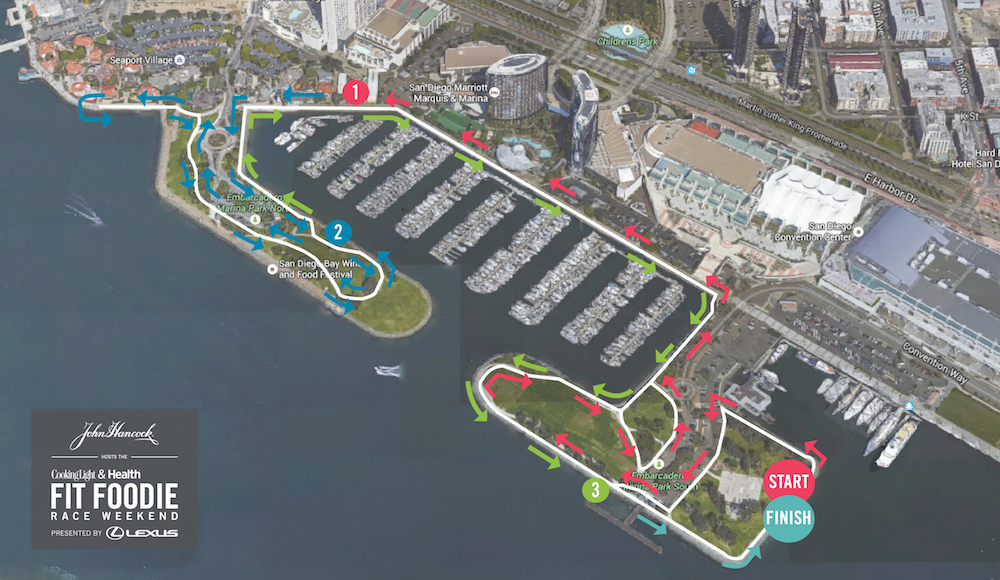 San Diego Course Map - 5K